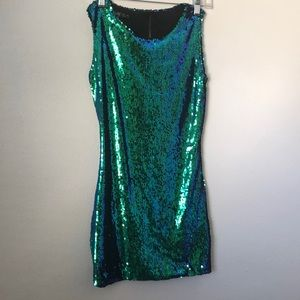 Mermaid sequin mini dress